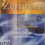 Zertifikat für Orthokeratologie